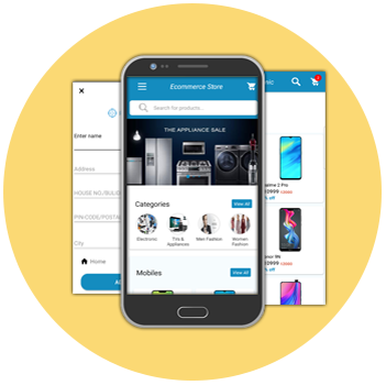 ecommerce Android App mobile